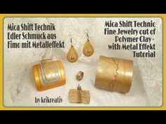 Mica Shift Technique, Tutorial, Fine Jewelry out of Polymer Clay with Metall Effect, - YouTube