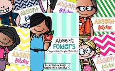 A set of covers for your absent folders. All you have to do after assembling these bad boys, is simply place the absent folder on the student's desk. Just slip their worksheets and missed work inside the folder all day long!