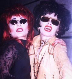 Siouxsie Sioux and Pam Hogg