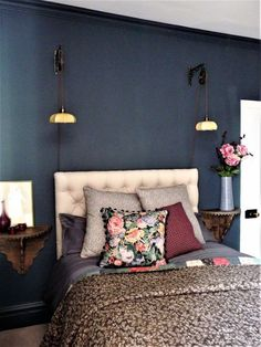 Love The Bed Side Tables Perfect For A Small E Like Tiny Wall Mounted Lights Bedroomwall