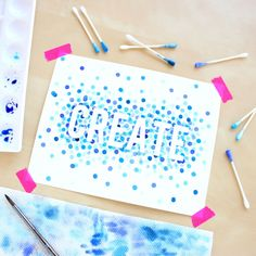 Watercolor Polka Dot Art @linesacross square