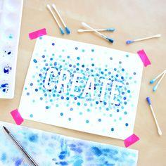 Watercolor Polka Dot Art @linesacross square