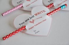 You are just WRITE printable Valentine's Day card at HappyClippings.com