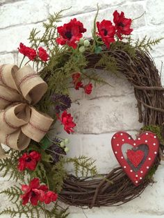 Valentines Wreath Valentine's Day Wreath by AdorabellaWreaths