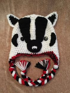 99cb49fcfae Wisconsin Bucky Badger Crochet Hat by CraftingTherapyMN on Etsy Crochet  Kids Hats
