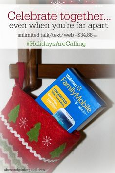 Stay connected with Walmart Family Mobile - unlimited talk/text/web for only $34.88/mo! Plus new rollbacks on smartphones, just in time for the holidays! #ad #holidaysarecalling