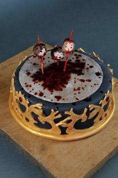 http://www.paintcakes.com  game of throne, trone de fer, winter is coming, gore, cake, cakes, birthday cake, gateau d'anniversaire, geek, nerd, livraison, paris, sur mesure, personnalisé,