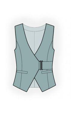 Coat Pattern Sewing, Coat Patterns, Sewing Patterns, Mens Vest Pattern, Suit Pattern, Waistcoat Designs, Fashion Design Template, Men's Waistcoat, Suit Vest