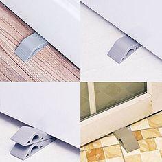 uxcell Floor Mounted Door Stop Stopper Bumper Silver Tone 120mm Long