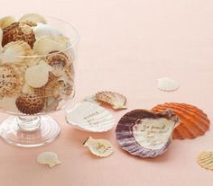 10 Unique Guest-Book Alternatives - Shells, sand dollars, this idea is perfect for an oceanside wedding!