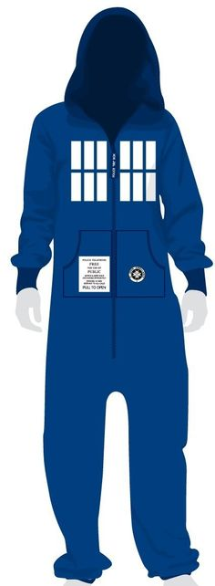 Dr Who Blue Tardis Onesie Jumpsuit for Adults-- If I ever go to jail- I'm requesting this
