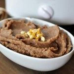 Refried Beans {Made in the Slow Cooker and Fat-Free} from Mel's Kitchen Cafe