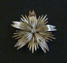 Vintage Monet Starburst Floral Brooch - Maison Chantal Michael