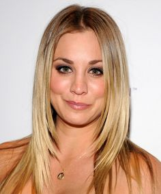 Kaley Cuoco's layered look.  Getting this next time I'm in for a trim.  Looks so pretty.