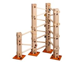 <3 Xyloba! a musical marble run!  You have modular marble run parts and ramps with xylophone pieces to construct any combination you want.