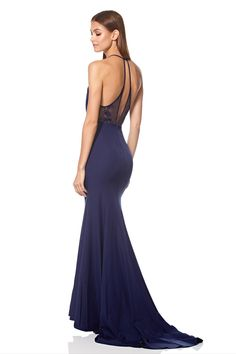 99719aa7d2dd Carlin High Neck Fishtail Dress with Open Back Detail. Fishtail DressLace  InsertFloral ...