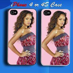 Rihanna R Singer Custom iPhone 4 or 4S Case Cover  Custom  iPhone4  iphone4S aabcb6899a4c