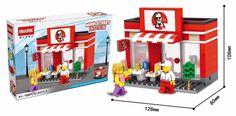 Mini Street Model Store Shop City Series with Starbuckks Apple CKFC MMcDonald`s Building Block Toys Compatible with Legoo Hsanhe Building Blocks Toys, Toy Chest, Kids Toys, Brick, Neon Signs, Apple, Street, City, Fun