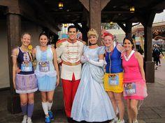 Disney princess running costumes at the Princess Half- Marathon
