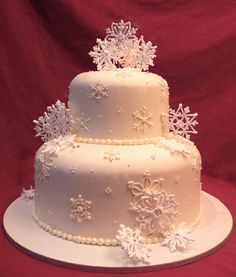 Cake Art By Rabia : Snowflake Wedding Cake by Cake Art by Rabia Stunning ...