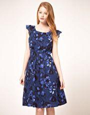 Emily Vintage Style Floral Dress