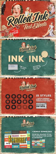 Rolled Ink Vector Text Effects