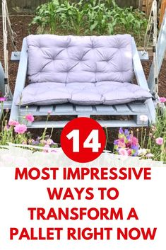 Diy Projects On A Budget, Diy Craft Projects, Crafts, Old Pallets, Recycled Pallets, Custom Bed Frame, Herringbone Headboard, Pallet Chair, Eco Friendly House