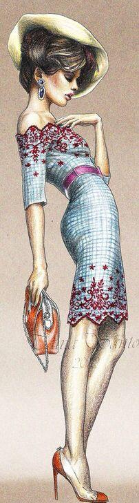 Fashion sketch. #fashion #illustration #sketch @butovskaya