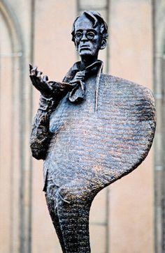 Rowan Gillespie sculpture of Yeats in Sligo, Ireland. Christmas In Ireland, Books Art, Scottish Culture, Images Of Ireland, Irish Landscape, Irish Eyes, Environmental Art, Ireland Travel, Adventure Is Out There