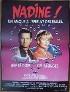 Original Vintage Movie Poster Nadine 1987 Jeff Bridges and Kim Basinger by reveriefrance on Etsy