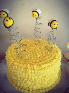 Baptism Party Ideas Bee Cake PopsBumble