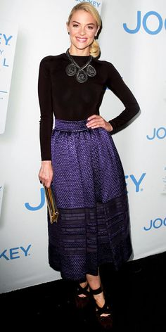 75c8f9bcd996b5 Jaime King celebrated Rachel Zoe s Major Must-Haves for Jockey in Christian  Dior s long-sleeve blouse