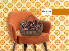 Bolso maletín con tejidos de lana de FOR TIME