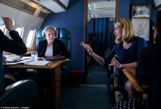 Theresa May was advised by a team of senior aides as she travelled to meet Nicola Sturgeon...