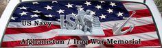 US Navy Afghanistan Iraq War Memorial truck window mural