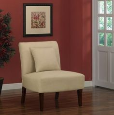 @Overstock - Accent chair will add a touch of sophistication to your home decor  Furniture features a solid hardwood and plywood frame  Chair is upholstered in champagne-colored fabrichttp://www.overstock.com/Home-Garden/Accent-Chair-Champagne/3682315/product.html?CID=214117 $149.99