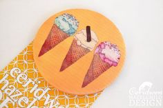 Ice Cream Fabric Badge Large Badge Pin Badge Fabric Covered Button Mothers Day Gift by ceridwenDESIGN http://ift.tt/1S6JWXR