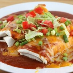 Wet Burritos - I added 3/4 lb of chorizo for a little added spice, but the recipe is definitely a keeper!
