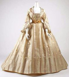 Dress with day bodice