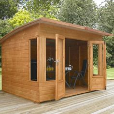 10ft x 8ft Helios Shiplap Pent Wooden Garden Summerhouse - Brand New 10x8 Tongue and Groove Wood Summerhouses Waltons http://www.amazon.co.uk/dp/B00FBCKPCU/ref=cm_sw_r_pi_dp_-vqrvb1REJCNM
