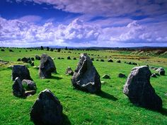 Beaghmore stone circles in Ireland - They say Koreans are the 'Irish of the Orient', apparently because of their tempers.  Nice.