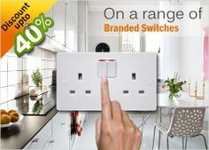 discount upto 40% on branded switches