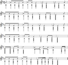Free tin whistle sheet music and tablature for Camptown Races. Cc Music, Music Puns, Flute Sheet Music, Music Sheets, Celtic Instruments, Barbie Music, Irish Flute, Native Flute, Native American Music