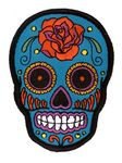 Sunny Buick Sugar Rose Skull Patch Day of The Dead Dia de Los Muertos | eBay