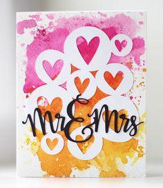 Modern Wedding Card | Kalyn Kepner | paperislove.com