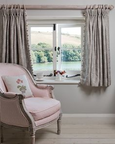 Short Curtains for Bedroom Windows with Small Cottage Windows Shorter Curtains Emphasis the Short Curtains Bedroom, Curtain Designs For Bedroom, Short Window Curtains, Cottage Curtains, Cottage Windows, Pleated Curtains, Bedroom Windows, Curtains With Blinds, Curtain Inspiration