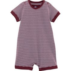 Little Loungers Little loungers Petit Bateau Newborn Baby Clothes at Little Loungers Brooklyn NY Designer Baby Clothes, Baby Boy Or Girl, Baby Outfits Newborn, Everyday Outfits, Arms, Burgundy, Short Sleeve Dresses, Neckline, Stripes