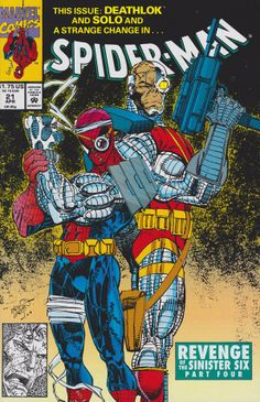 Spiderman y Deathlock.