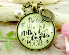 Mom Daughter Necklace The Love Between a Mother by GutsyGoodness