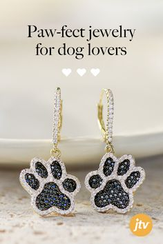 Paw-fect jewelry for all of our dog lovers out there! Dog Jewelry, Animal Jewelry, Jewelry Accessories, Jewelry Design, Jewelry Shop, Leather Earrings, Beaded Earrings, Beaded Jewelry, Crochet Earrings